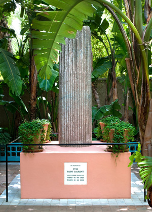 Memorial Yves Saint Laurent no Jardin Majorelle em Marrakech, Marrocos.