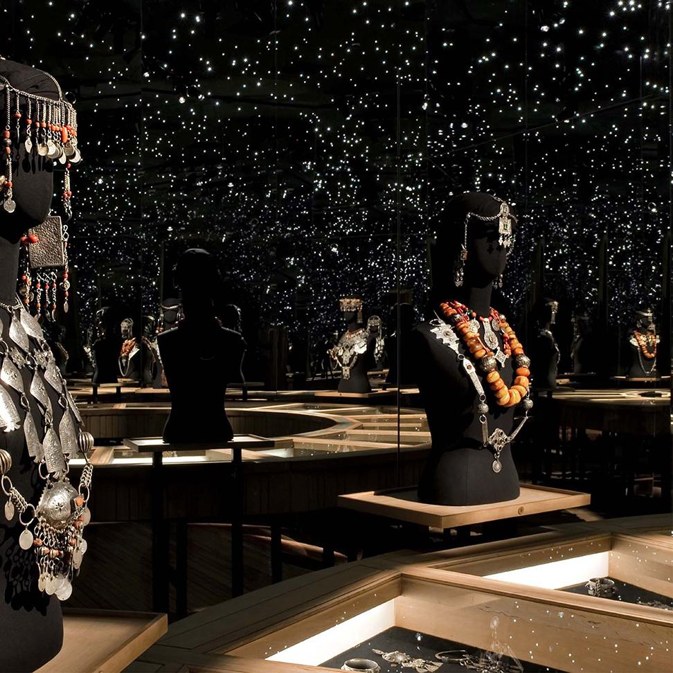 les bijoux berberes,l'ancien atelier de peinture de Jacques Majorelle